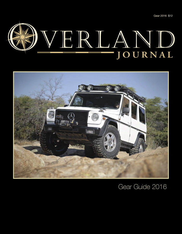 Overland Journal - Gear Guide 2016 cover